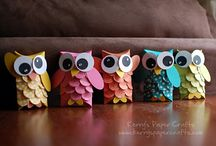Paper Crafts: Owls / We just love #owls!  This boards is filled with #handmade owls that we thought were adorable.