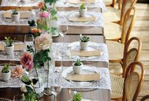 almoço de casamento