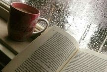 books and rain