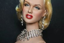 """Celebrity Dolls / Barbie- and other repainted, art celeb dolls, movie star dolls, actors, singers and """"action men""""."""