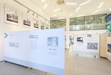 Seit heute geöffnet! / Blicke in die Ausstellung Kubus oder Kuppel. Ausstellung zur Architektur von Moscheen. VHS Essen. Bis 19.7.2013 immer Mo-Fr 9 -21 Uhr