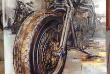 Motorcycle drawing & painting