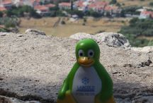 Sunny Samos / Labcold Penguin visits the beautiful Greek Island of Samos, the birthplace of the goddess Hera