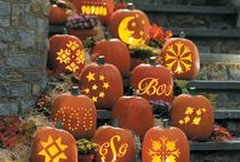 Fall pumpkin displays