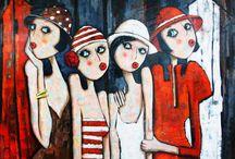 Akrilik boya tabloları