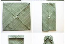 tablesetting/ napkins
