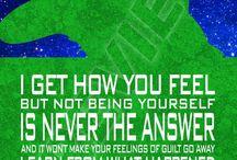 Superheroes quotes / Supersankareiden sanontoja ja voimia tulevaan :)