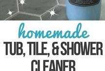Shower cleaner etc