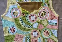 háčkovaný patchwork