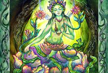 Green Tara                                       The Divine Feminine /                                 OM TARE TUTTARE TURE SWAHA   We call upon the Divine Feminine in the form of Green Tara, to alleviate the suffering of all, to bring compassion and fierce grace to all who are oppressed, and to their oppressors.