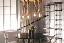 Halat  Bambu Aydınlatma / Aydınlatma Tasarım Dekorasyon