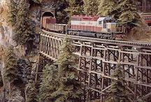 Eisenbahn / Holzviadukt