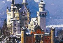 дома, здания, замки