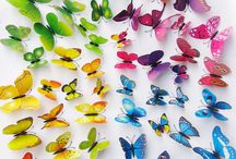 Butterfly, Vlinders, 3D Decoratie