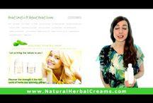 Video presentation of natural herbal creams!