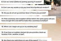 Questions for wedding reception