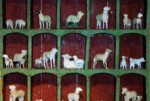 Lamb pull-toy