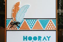Four Feathers Stampin' Up! Stamp Set Greeting Cards