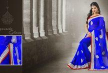 Chiffon Saree / Chiffon sarees, designer Chiffon Saree Indian trendz, party wear chiffon saree