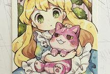 Алиса в стране чудес аниме