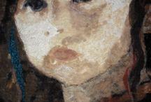 textile portraits _ textielportretten / deze werken zijn te zien van 23 t/m 25 november in Nieuwegein tijdens de HAndwerk en Quiltdagen . Tot daar ;-)