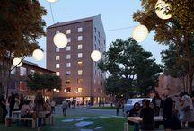 Studentbostäder KTH Campus / Akademiska Hus bygger 230 studentlägenheter vid Teknikringen på KTH Campus i Stockholm med plats för över 400 studenter. Projektet omfattar sex byggnader vid Teknikringen på KTH Campus. Studentbostäderna består till största delen av duolägenheter som kan delas av två studenter, men även tripletter och enrumslägenheter kommer att byggas. Arkitekter: Utopia Arkitekter