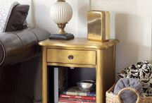 gold sidetable