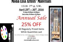 "Favourite Art Materials / ""Annual Sale"" April 29th & 30th 2016  25% Off All Regular Priced Items"