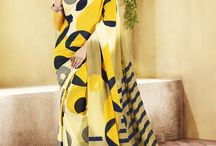 Geometric Sarees / Discover the magic of geometric shapes applied on sarees.