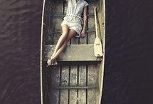 Rowing boat photoshoot