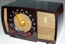 radio, tv, telephone, clock