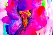 Floral art works
