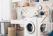 Laundry Rooms / We moms spend hours doing laundry.  At least we spend that time in a stylish space!  / by Traci Zeller