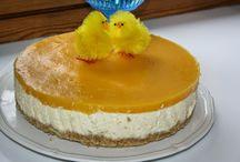 Persikka-juustokakku vaniljakastik- keella!
