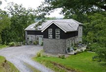 Melin Galedffrwd Mill / Refurbishment & Conversion of a 19th century water mill which was built by the Penrhyn Quarry in Bethesda, Gwynedd, North Wales.  The property is constructed of slate  with sum wall's all-most 1.5 meter's thick.