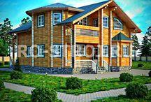 Проекты домов из клееного бруса / Эстетика натурального дерева, экологичность и богатые решения планировки – лишь некоторые качества домов из клееного бруса. Этот стройматериал обрел огромнейшую популярность еще по ряду причин: высокая прочность, надежность, относительно невысокая цена и технико-физические показатели, которые позволяют строить конструкции с любыми архитектурными решениями. Дома из клееного бруса это элитные деревянные строения. Сочетают в себе все преимущества этих построек и исключают все недостатки.