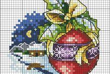 haft krzyzykowy świąteczne