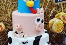 torta tema fattoria