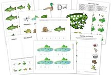 Pond Life School Activities / Printable pages and inspiration on learning about pond life, including the letter D is for duck.