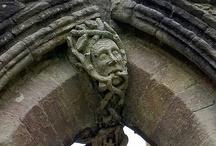 gargoyles/carved stones