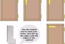 Positioning cupboard knobs, pulls and handles