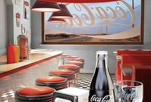 American style vintage retro