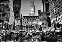 New York At Night / In the dark. Beautiful architecture, cityscapes, street scenes, people and nightlife in the greatest city in the world. / by James Maher Photography