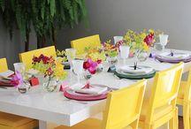 Recebendo - mesa posta e buffet / Ideias para lindos almoços e jantares em casa