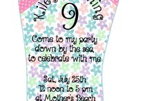 Beach Party for Kiley / Come with me to the sea and celebrate with me. / by Vickie List
