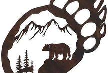 Bear art quilt ideas