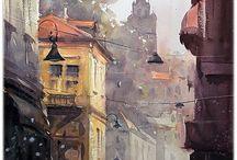 Fine Art oil & watercolor painting
