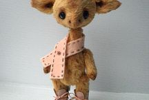 Toys felted and other / Handmade stuffed toys , knitted, felt, etc. animals and dolls