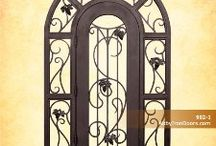 Wine Cellar Doors / What better way to make your elegant wine cellar all the more special than with a new wrought iron door from Abby Iron Doors?  http://abbyirondoors.com/in-stock-iron-doors-wine-cellar-doors.php