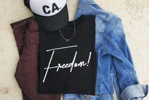 Salt + Pepper Instagram Our favorite Freedom tee & CA hats are fall ready! Order this combo for $53 and get free shipping on any order over $50 with code FREE50!